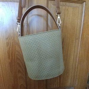 Basket weave style crossbody bag WORN ONCE